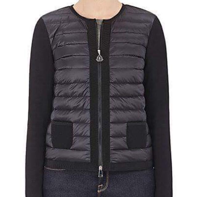 Moncler拼接款外套 / 黑色背心