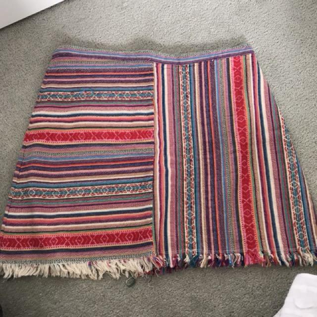 Multi coloured skirt