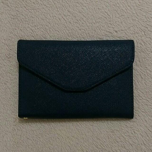 Navy Blue Travelling Passport Tri-fold Leather Wallet/Organiser