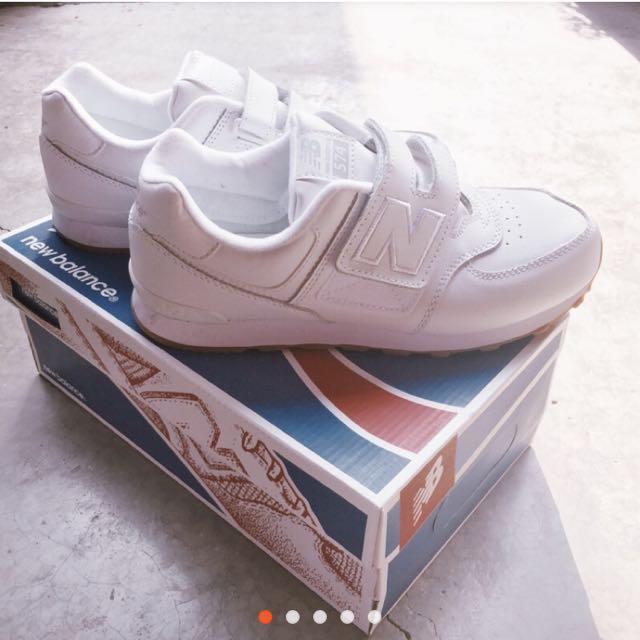 可議價!NB 574 小白鞋 牛奶糖底 魔鬼氈