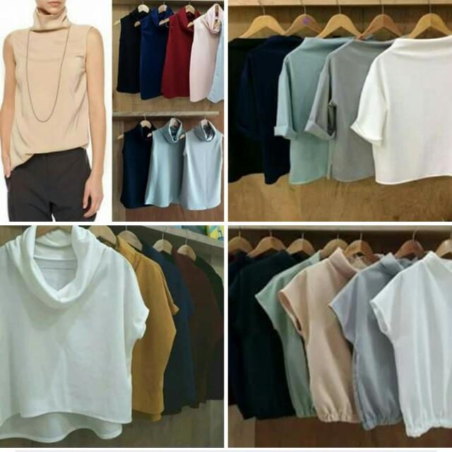 Neoprene and Crepe blouses