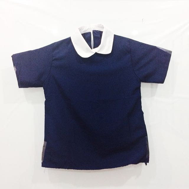 NEW - Navy Collar Blouse