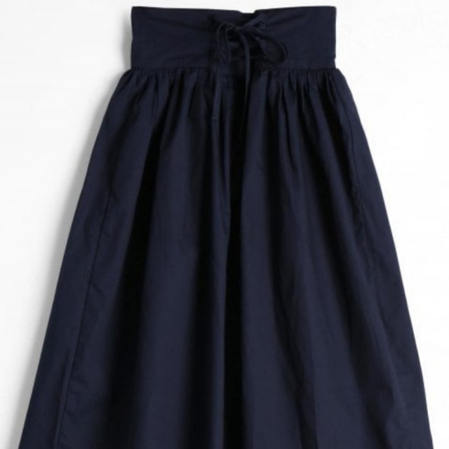 New high waisted tie up skirt