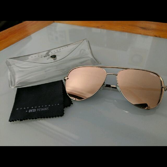 New Quay Rosegold Sunglasses
