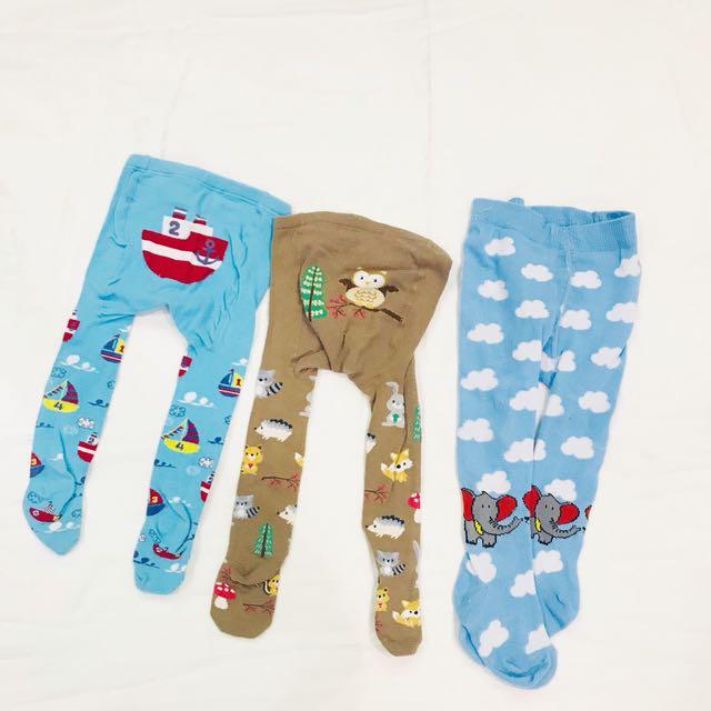 Overall leggings & socks SET