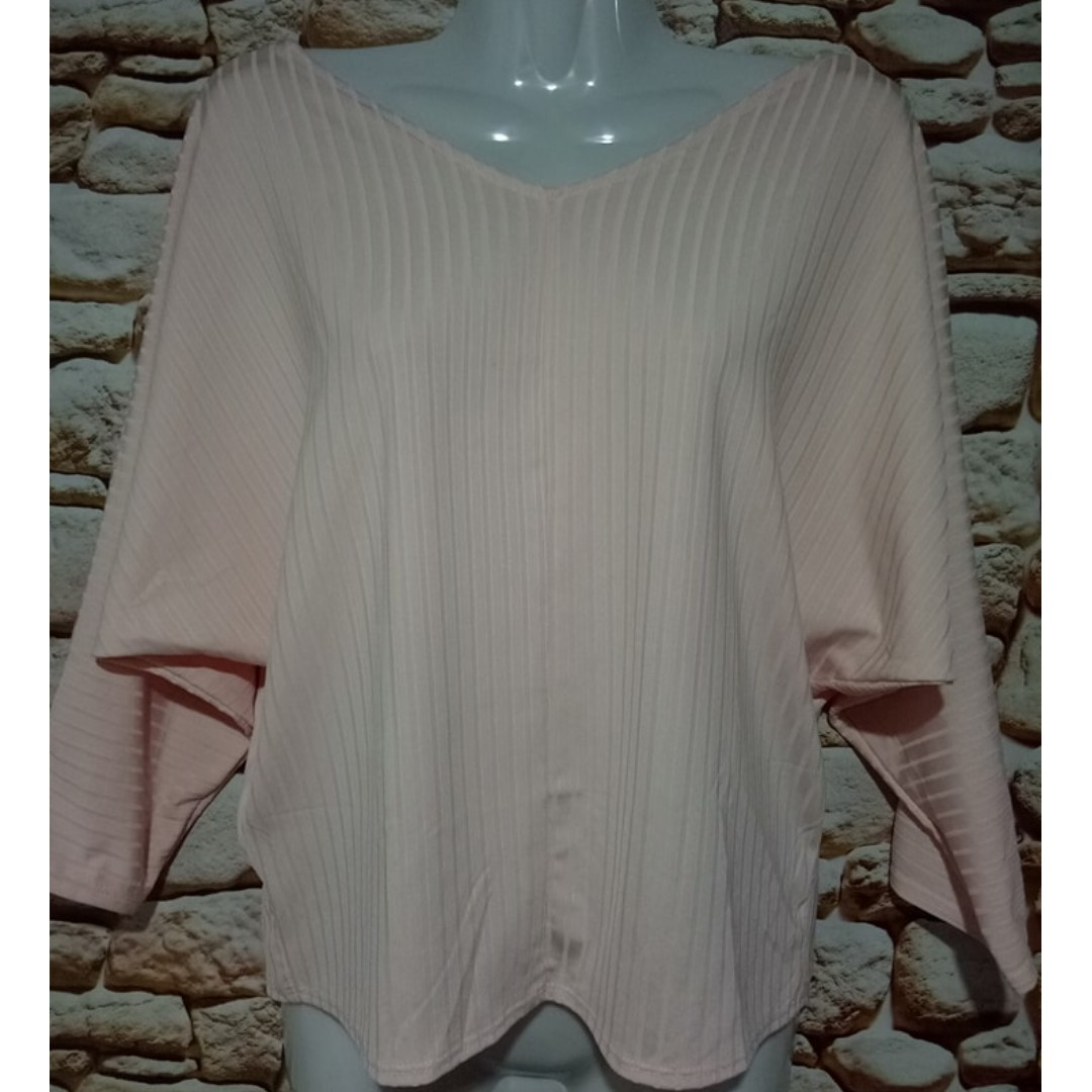 Peach  Batwing Top