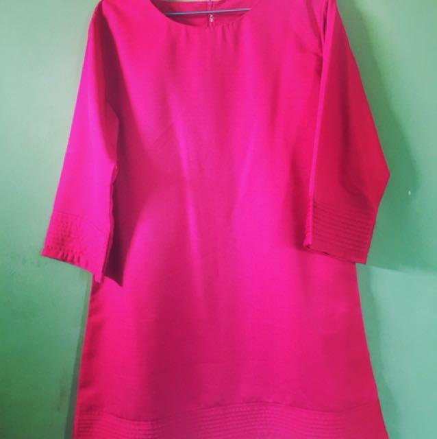 Pink fuschia tunik Free Ongkir Jadebotabek