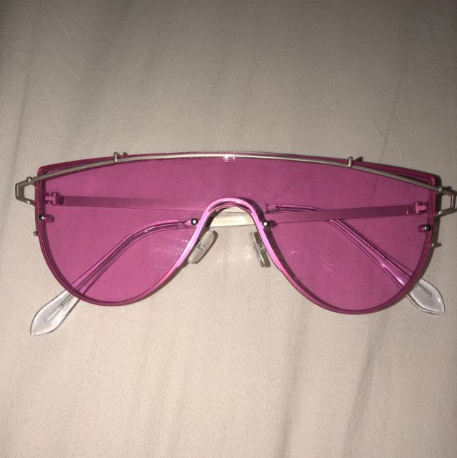 Pink Shield Sunglasses