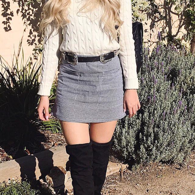 PRINCESS POLLY Gingham mini skirt