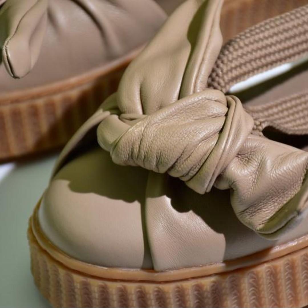 fedf87df2a0 Puma Fenty x Rihanna Bow Creeper Sandals  Natural Oatmeal