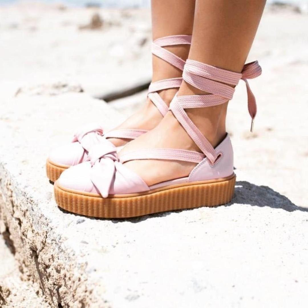 PUMA x Fenty by Rihanna Bow Creeper Sandal SILVER ROSA/SILVER ROSA/Oatmeal