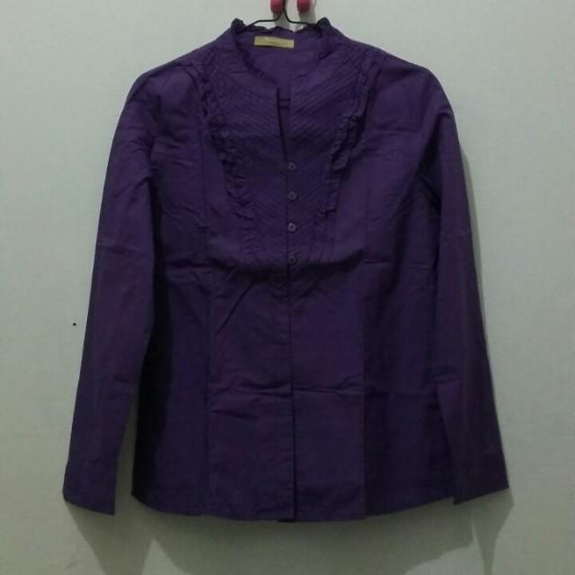 Purple ruffle shirt