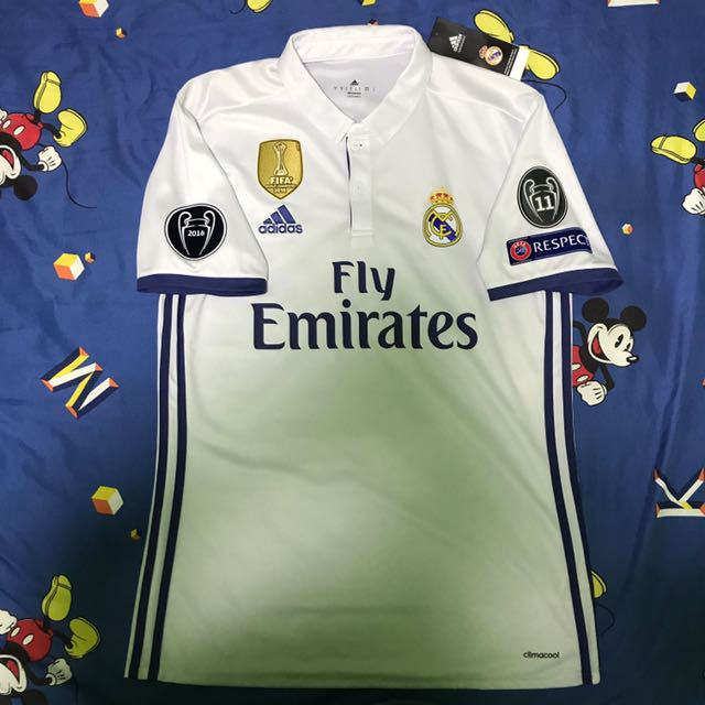 e725f251a Real Madrid 16 17 Season Home UCL Kit