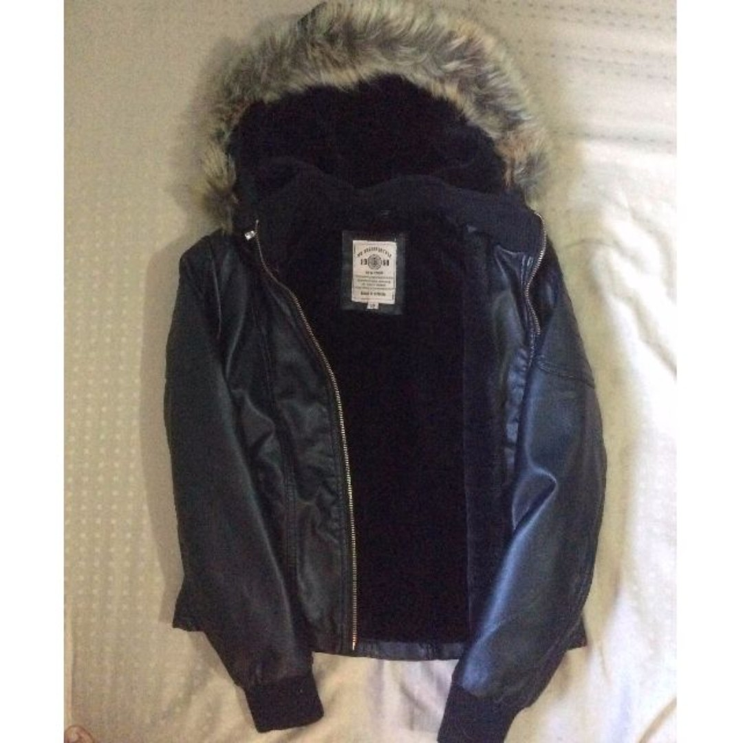 Repriced! Pre Loved Jacket (faux leather) for Kids(Girls)