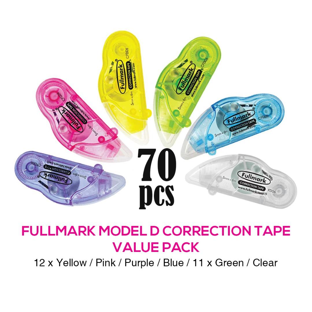 RM100 Value Pack! 70pcs x Fullmark Model D Correction Tapes