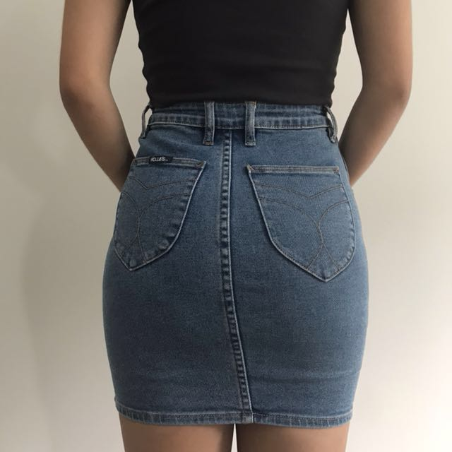 78fa7daae4 Rollas Pencil Denim Skirt, Women's Fashion, Clothes on Carousell