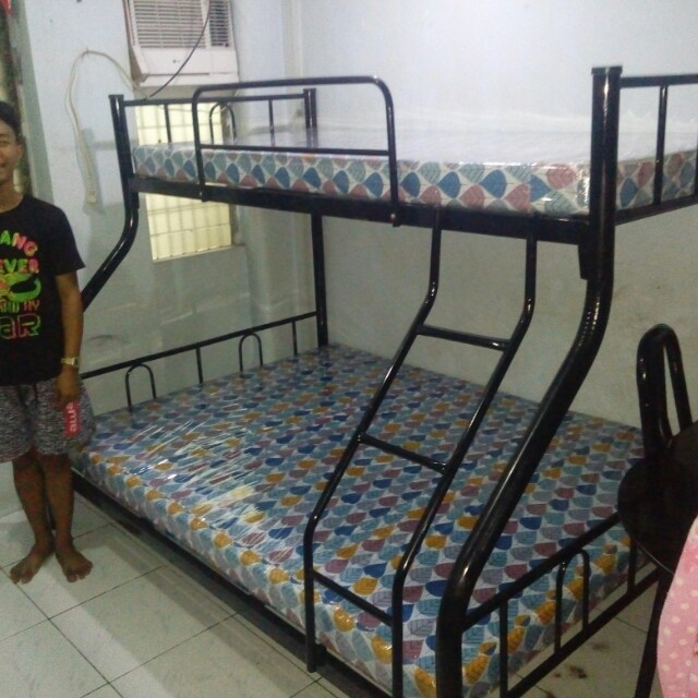 R-type double deck frame w/ foam mattress, Home & Furniture on Carousell