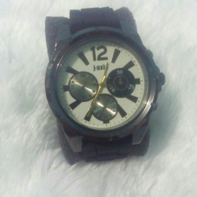SALE J-AXIS silicone rubber belt watches black AG1241-BK