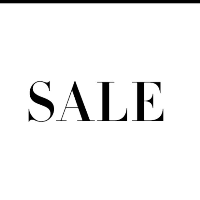 Sale time! Prices negotiable