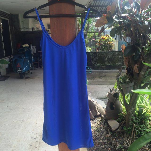 Simple Blue Mini Dress
