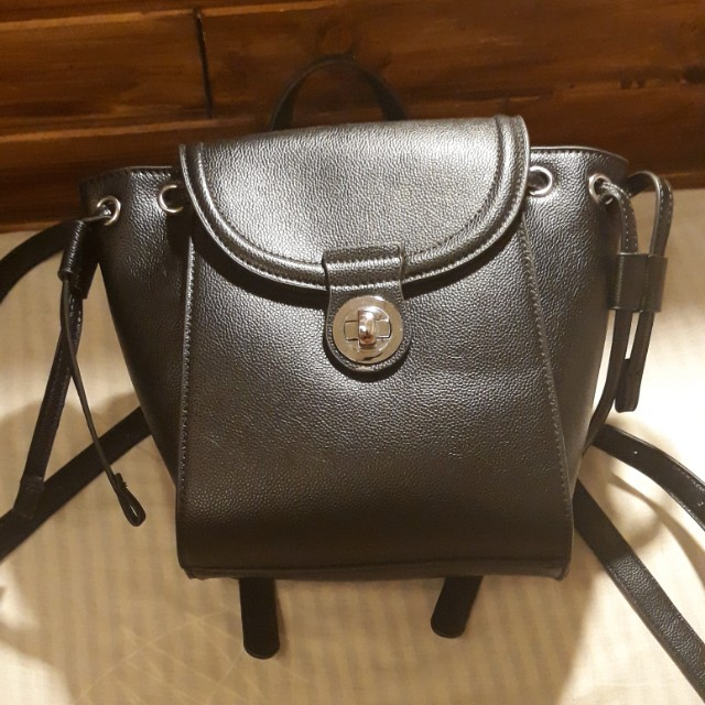 Small black backpack (synthetic leather)