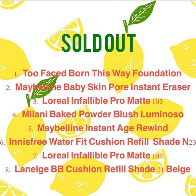 Sold Out❤️