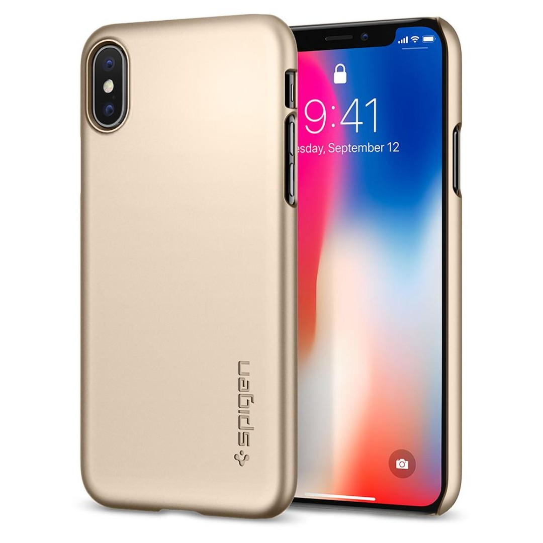best service a35aa 0f6fa Spigen iPhone X ★ iPhone 10 ★ Thin Fit Case (Authentic)