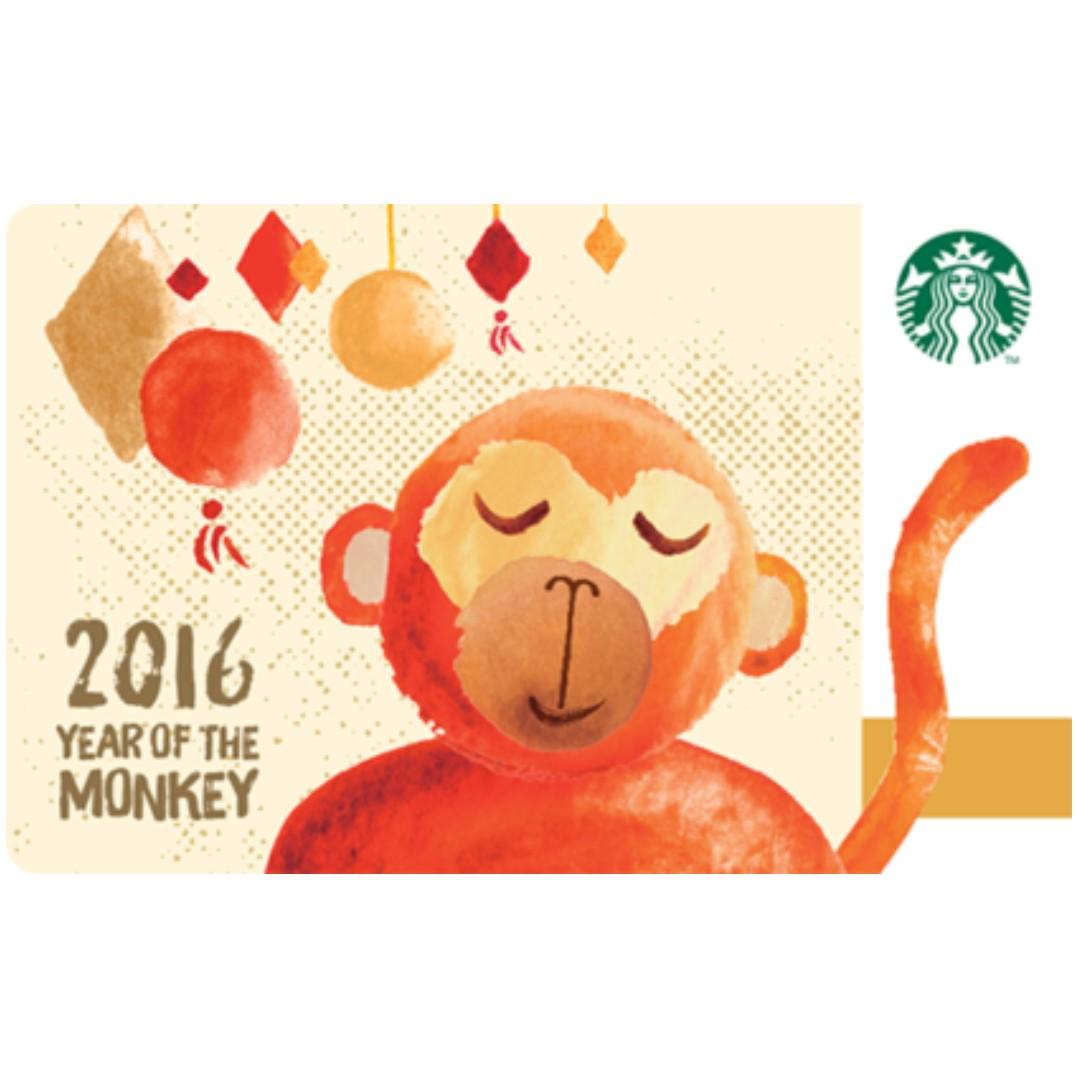 🆕Starbucks® 🇲🇾 2016 Year of The Monkey Card
