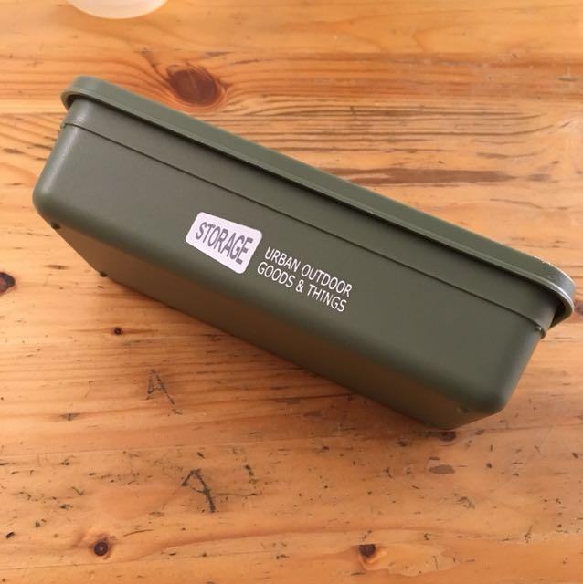 Storage urban outdoor 軍綠 塑料 收納盒 筆盒