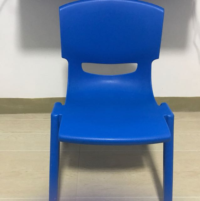 Sturdy Blue Chair for Kids