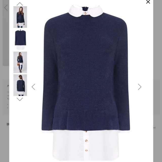 Topshop Collared Sweater