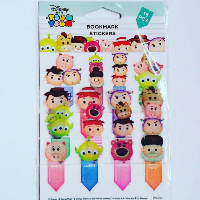 Toy Story Tsumtsum Bookmark Stickers