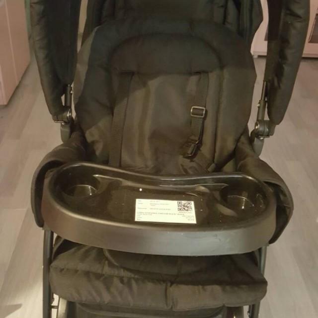 Twin stroller black