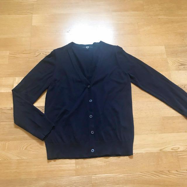 UNIQLO 深藍 針織 外套