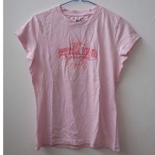 Universal Studios Singapore Pink Tshirt Woman Short Sleeve