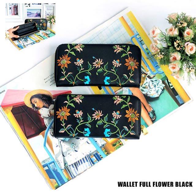 Wallet full flower black