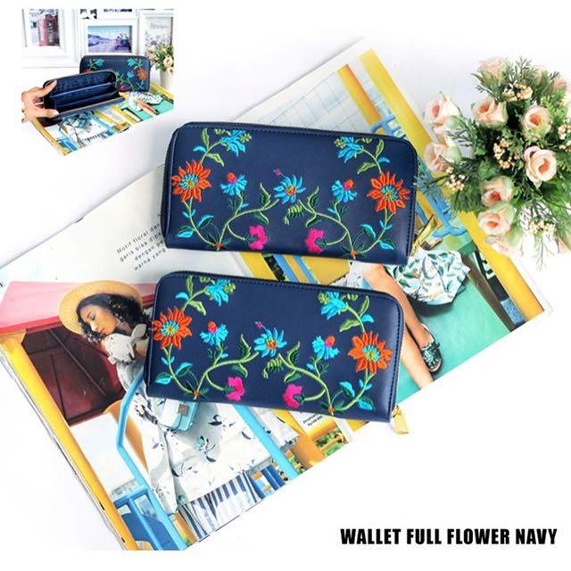 Wallet full flower navy