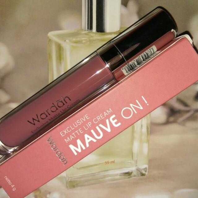 Wardah Exclusive Matte Lip Cream 09 Mauve On!