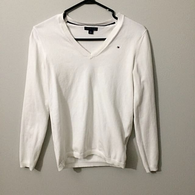 White Sweater Tommy Hilfiger