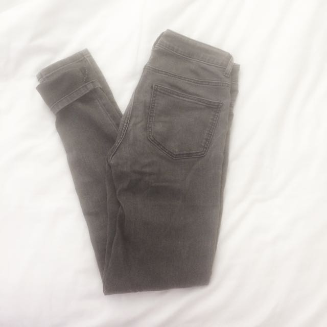 Zara black wash jeans