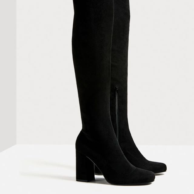 Zara Over-the-Knee High Heeled Boots