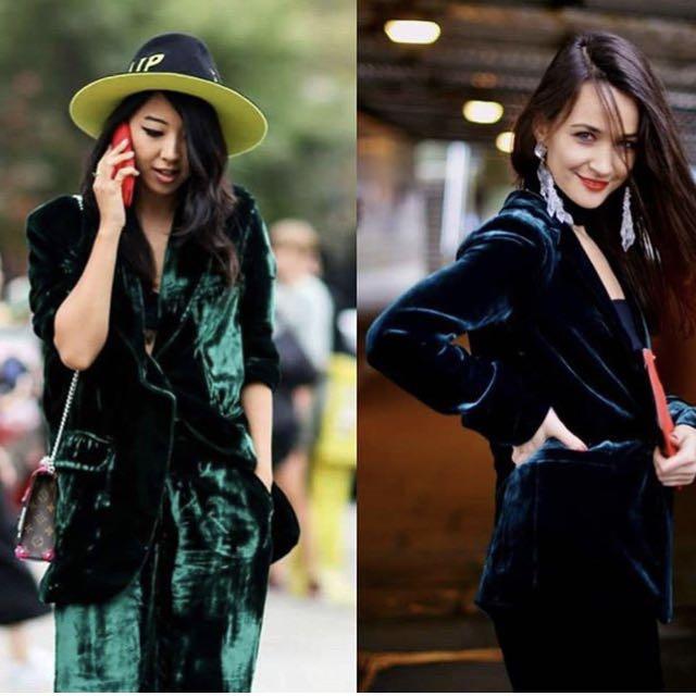 Zara velvet suit