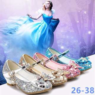 🌸NEW GIRL'S SMALL HEELS KID'S SINGLE SHOES WITH BUTTER FLY KNOTS PRINCESS SHOES🌸