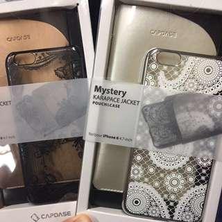包郵 CAPDASE 黑色 花紋 Mystery Karapace case iPhone 6 手機殻