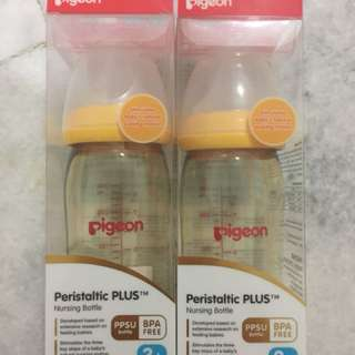 Pigeon - PPSU Nursing Bottle 240ml/8oz - 2 Bottles
