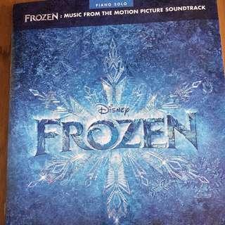 New Disney Frozen piano book music score sheets