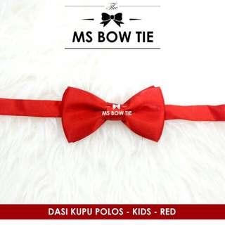 Dasi kupu anak import polos merah