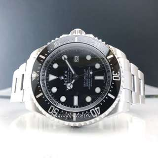 Pre owned Rolex deepsea black