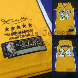 Kobe Bryant Retirement Jersey