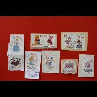 包郵 Disney 日本信銷郵票